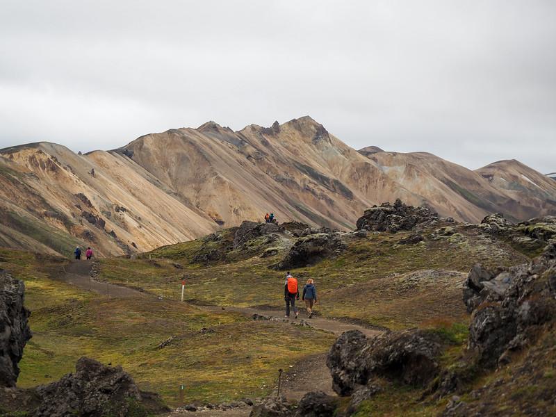 Hiking in Landmannalaugar in Iceland