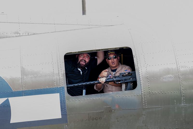 Paul Harrop and Kevin Hong in Texas Raider B-17