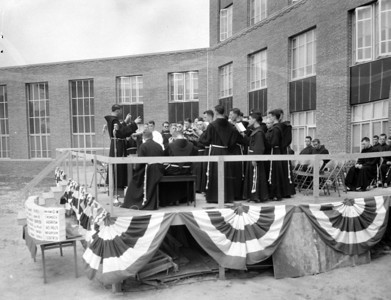 1954 hospital rebuilding and dedication