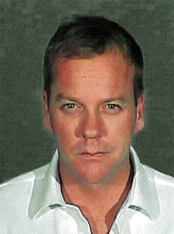 . Shown in this police booking photo released by the Glendale Police Department showing Kiefer Sutherland in Glendale Calif. Wednesday Dec. 5,2007. Sutherland was sentenced Wednesday to 48 days in jail for racking up a second drunken driving arrest in three years and immediately reported to a Glendale lockup. (AP Photo/Glendale Police Dep.)