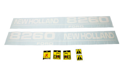 FORD NEW HOLLAND 8260 SERIES BONNET DECAL SET