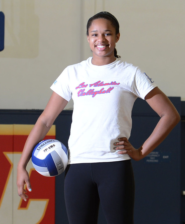 . Los Alamitos girls volleyball player and Press-Telegram Dream Team Player of the Year Crissy Jones.     Los Alamitos, Calif. Monday, December 23, 2013.   (Photo by Stephen Carr / Daily Breeze)