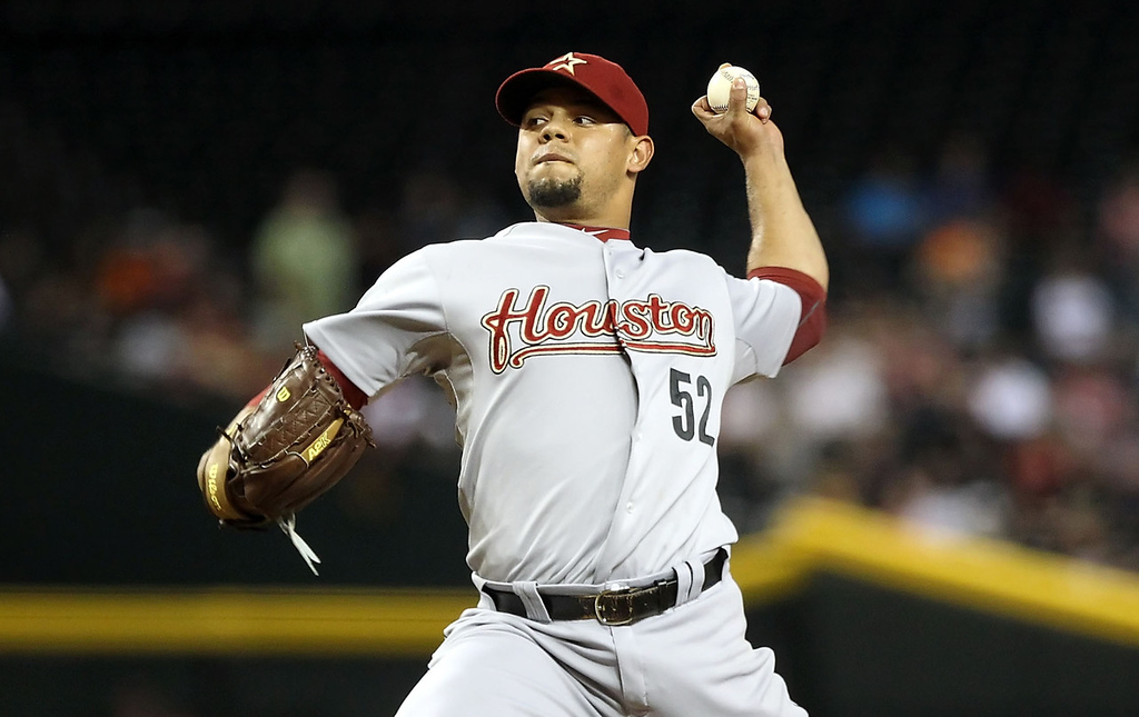. Sergio Escalona, pitching prospect, Houston Astros.  (Photo by Christian Petersen/Getty Images)