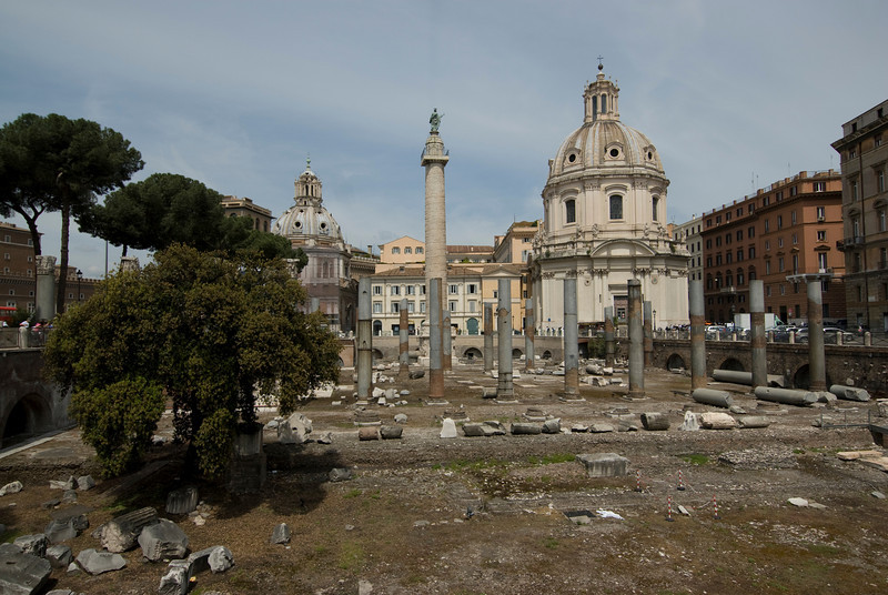 View of the Roman Forum in Rome, Italy
