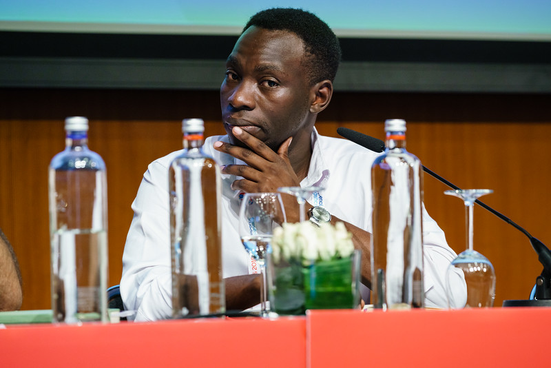 22nd International AIDS Conference (AIDS 2018) Amsterdam, Netherlands.   Copyright: Matthijs Immink/IAS  Young people at the centre: Community mobilization for youth-friendly HIV services  On the photo:  Moses Bwire