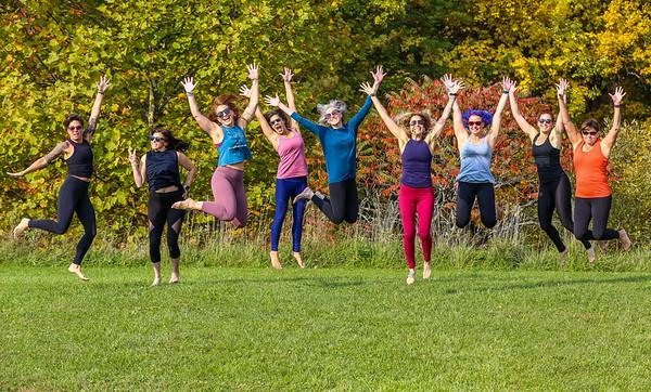 Prana Yoga Studio Fall Portrait Session