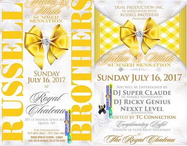 """RUSSELL BROTHERS' """"YELLOW & WHITE SUMMER SENSATION 2017""""(200)"""