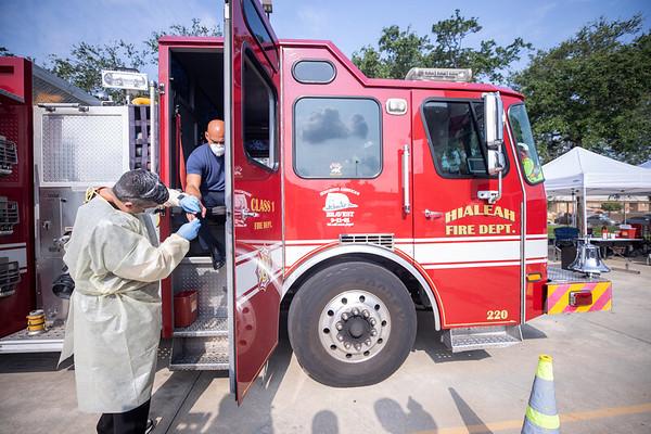 Gordon Center COVID Testing Hialeah Fire