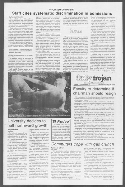 Daily Trojan, Vol. 76, No. 61, May 16, 1979