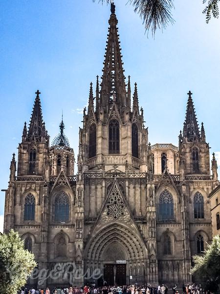 The front Facade of Sagrada Familia