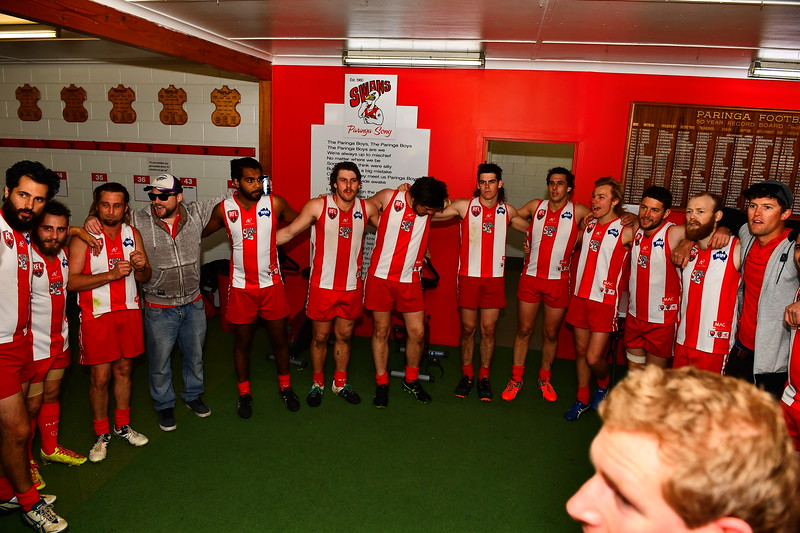 """A"" Grade PRELIM FINAL Paringa sing song after win"