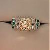 2.10ct Art Deco Peruzzi Cut Diamond Ring, GIA W-X SI2 10