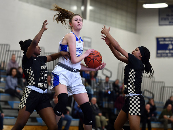 2/20/2020 Mike Orazzi | StaffrBristol Eastern's Ciara Collins (11) during Thursday night's CCC girls basketball game with East Hartford in Bristol.