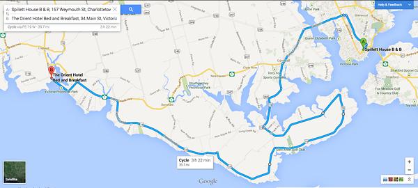 Biking PEI: Day Five: Charlottetown-Victoria