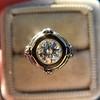 1.02ct Round Brilliant Diamond Bezel Ring 8