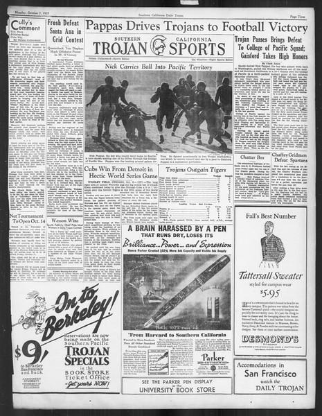 Daily Trojan, Vol. 27, No. 12, October 07, 1935