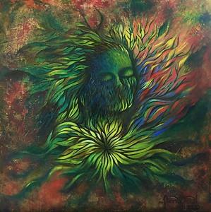 """Earth teach me quiet"" (oil) by Fanny Diaz"