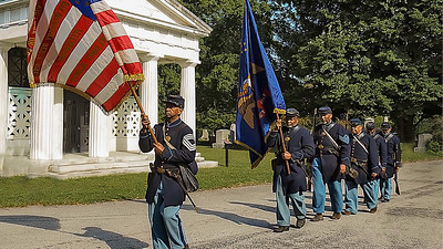 Ferncliff Cemetery US CT Monument Wreath Ceremony 9-3-2021