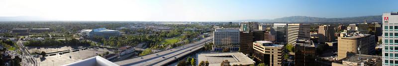 Downtown San Jose Panorama Test 2 (crop and rotate)