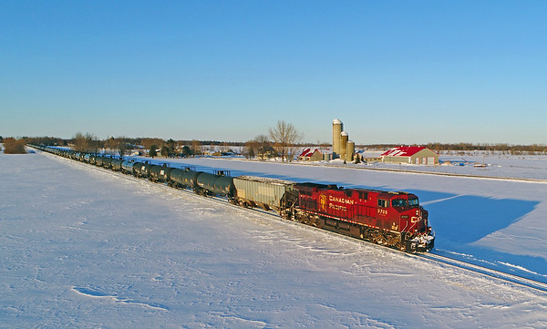 Canadian Pacific 650, Lacolle, Quebec, February 14 2019.