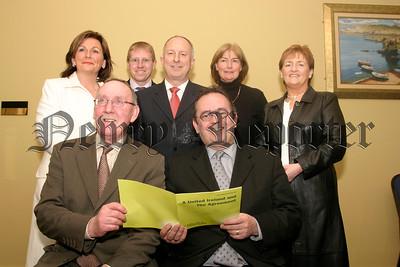 SDLP Meeting, Fews & Newrytown Candidates, Susan Mackin, Gary Stokes, Dermot Ahern, Noelle Garvey, Geraldine Donnelly, John Feehan and Dominic Bradley, 05W13N57.