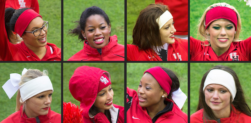 Eight of our UH Cheerleading squad