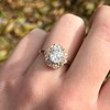 1.97ctw Antique Cluster Ring, GIA G SI2 14