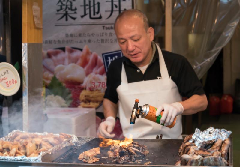 Fresh food at Tsukiji market, Tokyo