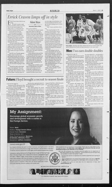Daily Trojan, Vol. 154, No. 36, March 07, 2005
