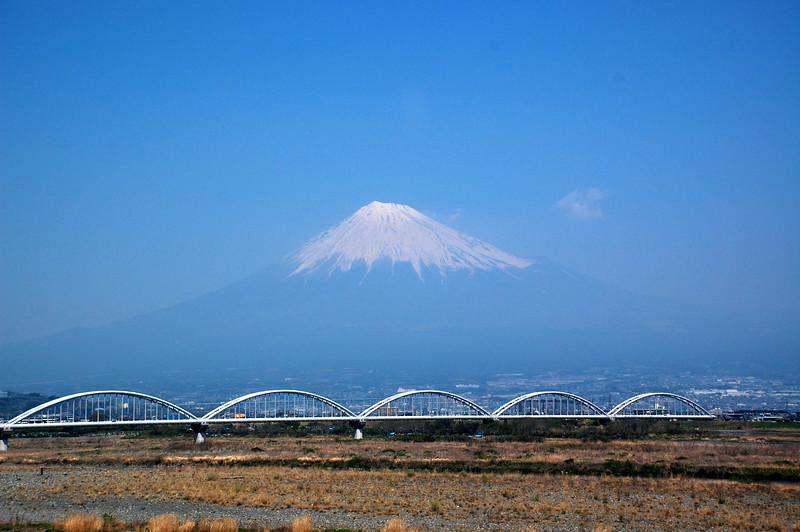 Mount Fuji viewed from Shinkansen