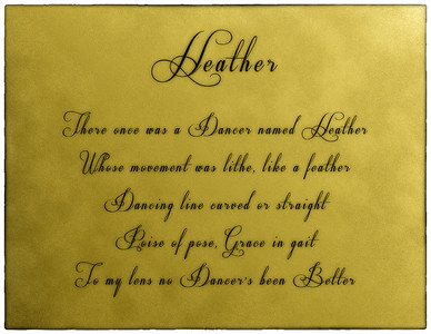 Heather - The Dancer - Lithesome She Walks