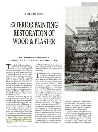 Exterior Painting Restoration Article for PWC