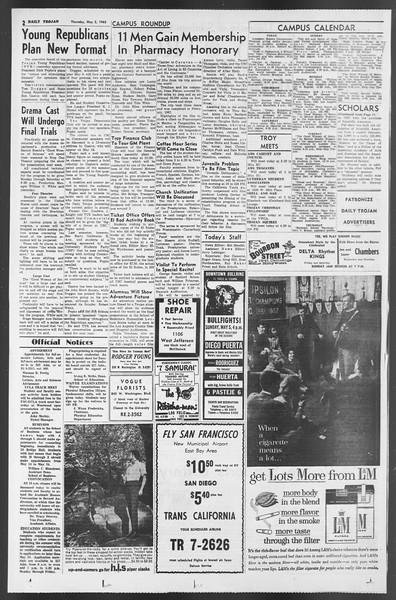 Daily Trojan, Vol. 54, No. 110, May 02, 1963