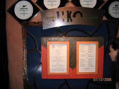 Jiko Dinner - 2006