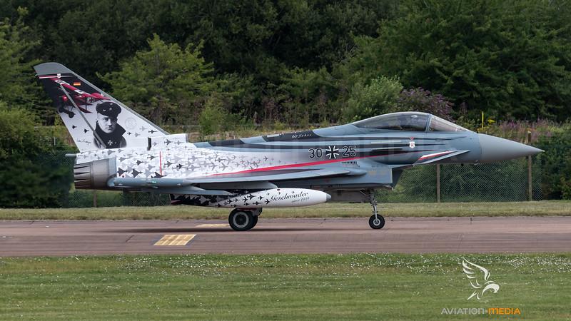 Luftwaffe TaktLwG 71 / Eurofighter Typhoon / 30+25 / 60th Anniversary Richthofen Livery