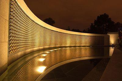 WW2 Memorial at Night