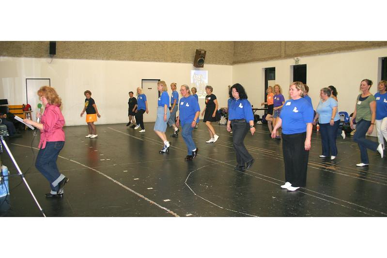 Dancing to Carol's cues