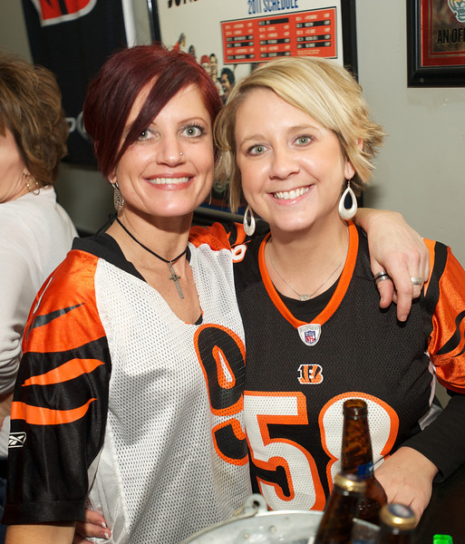 Amy and Kelley of Norwood at Jerzees for the Bengals game Saturday