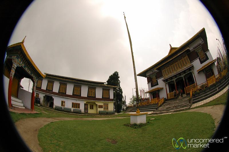 Fisheye of Pemayangtse Gompa - Pelling Sikkim