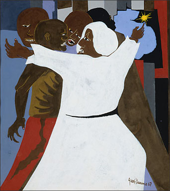 "Jacob Lawrence, ""Harried and the Promised Land No. 8"" (1967)"