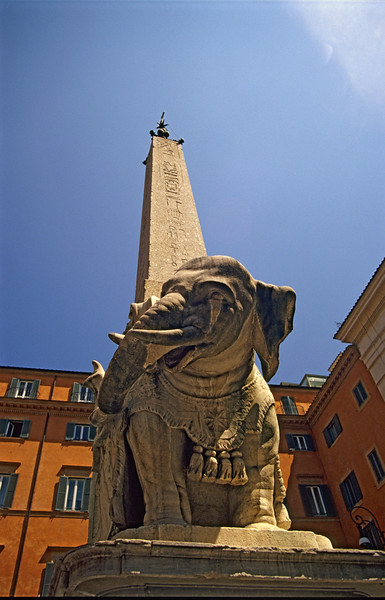 Statue of Elephant with Obelisk, Rome (Italy)