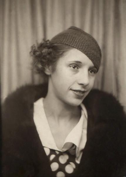 "Written on back of this small photo is ""Ruby Doss Swearingen"". Ruby Delora Doss was Hazel's sister; b. December 27, 1921, d. Februray 27, 1998"