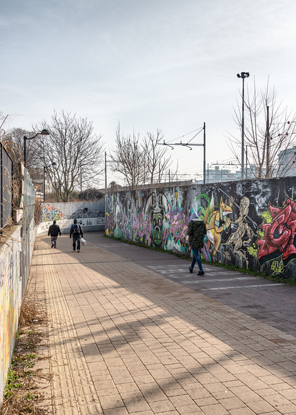 Entrance of Underpass to Piazzale Marconi - Piazzale Europa, Reggio Emilia, Italy - February 9, 2019