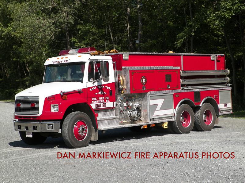EAST PENN TWP. FIRE CO. TANKER 336 2001 FREIGHTLINER/KME TANKER