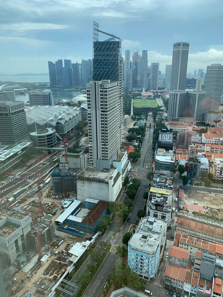 The view from my room at Andaz Singapore