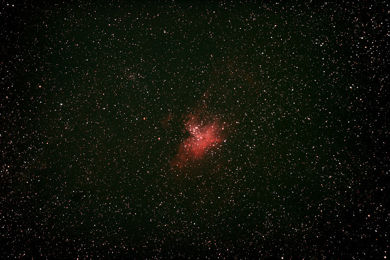 Messier M16 - NGC6611 - Gum 83 - Eagle Nebula and Cluster - 1/4/2011 (Re-processed stack)