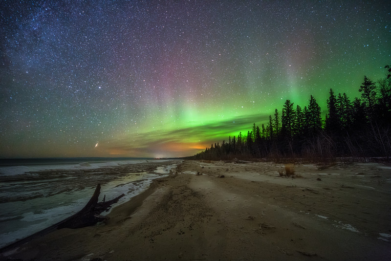 Aurora at Lesser Slave Lake