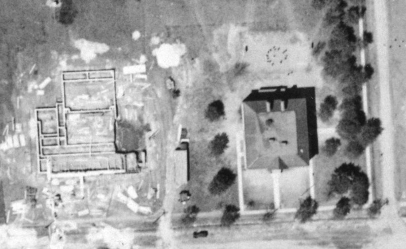 1923 Aerial of McKinley School and the foundation of the Harding school in it's infancy.