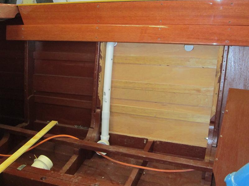 Pluming for bilge blower designed and installed.