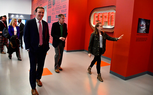 11/30/2018 Mike Orazzi   Staff U.S. Senator Chris Murphy during a tour and visit to ESPN headquarters in Bristol Friday.